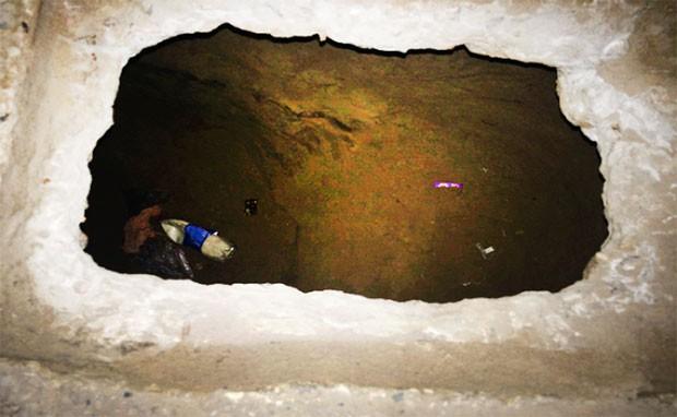 Túnel descoberto foi escavado a partir de uma das celas do Pavilhão 1 (Foto: Divulgação/PM)