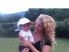Shakira posa com o filho: 'Na tranquilidade do campo'