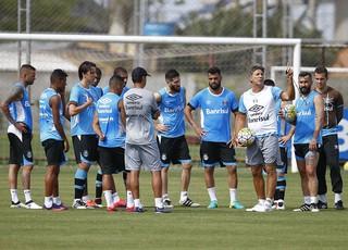 Grêmio time titular Renato Portaluppi grupo (Foto: Lucas Uebel/Grêmio)