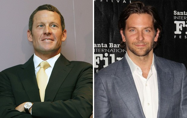 Montagem Lance Armstrong e Bradley Cooper (Foto: Reprodução)