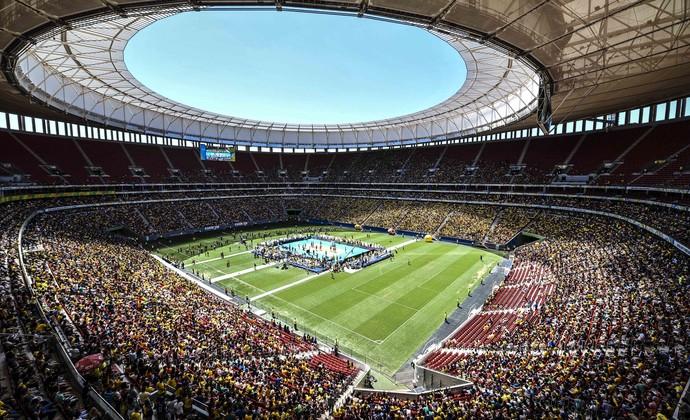 brasil x portugal estádio mané garrincha desafio vôlei (Foto: Wander Roberto/CBV)