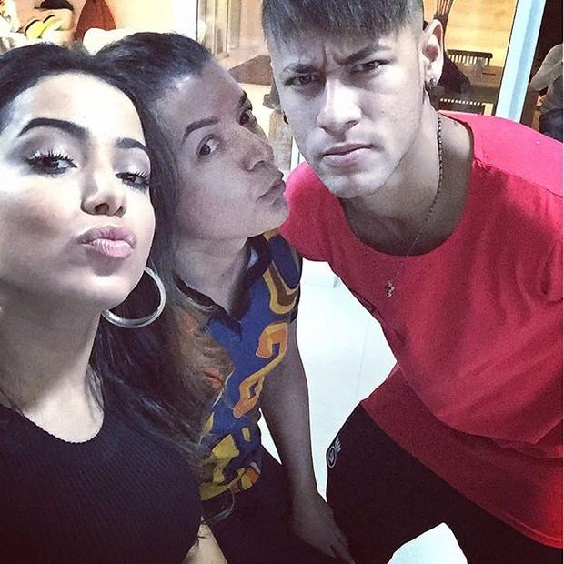 Anitta, David Brazil e Neymar (Foto: Reprodução/Instagram)