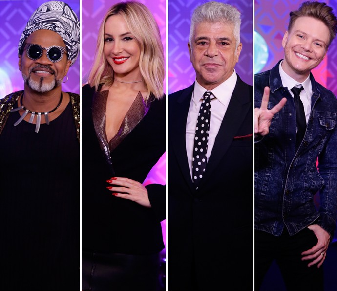 Técnicos do The Voice Brasil defendem vitória na quinta temporada do reality (Foto: Artur Meninea/Gshow)