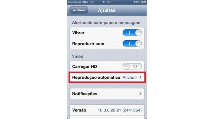 Configurações de vídeo no Facebook (Foto: Reprodução/Lívia Dâmaso)