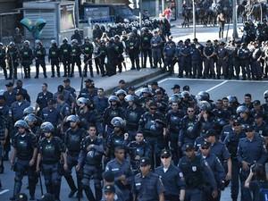 protesto na tijuca final da copa (Foto: YASUYOSHI CHIBA/AFP)