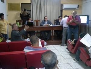 Reunião da FMF sobre Série B 2013 e Série A 2014 (Foto: João Ricardo/Globoesporte.com)