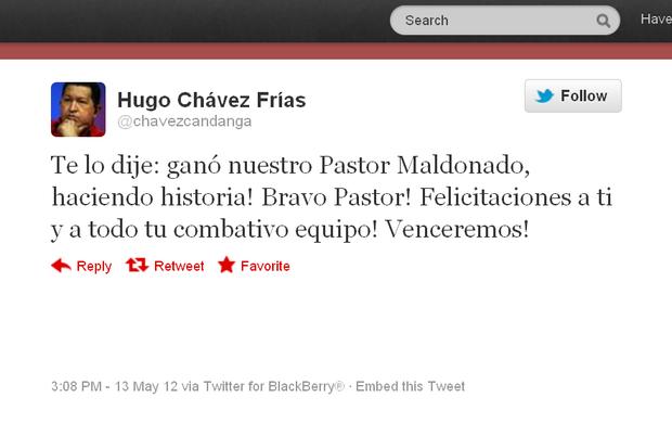 Hugo Chavez (Foto: Reprodução/Twitter)
