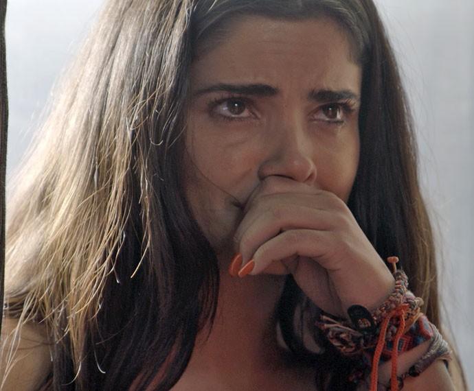 Tóia expulsa Juliano e fica arrasada logo em seguida (Foto: TV Globo)