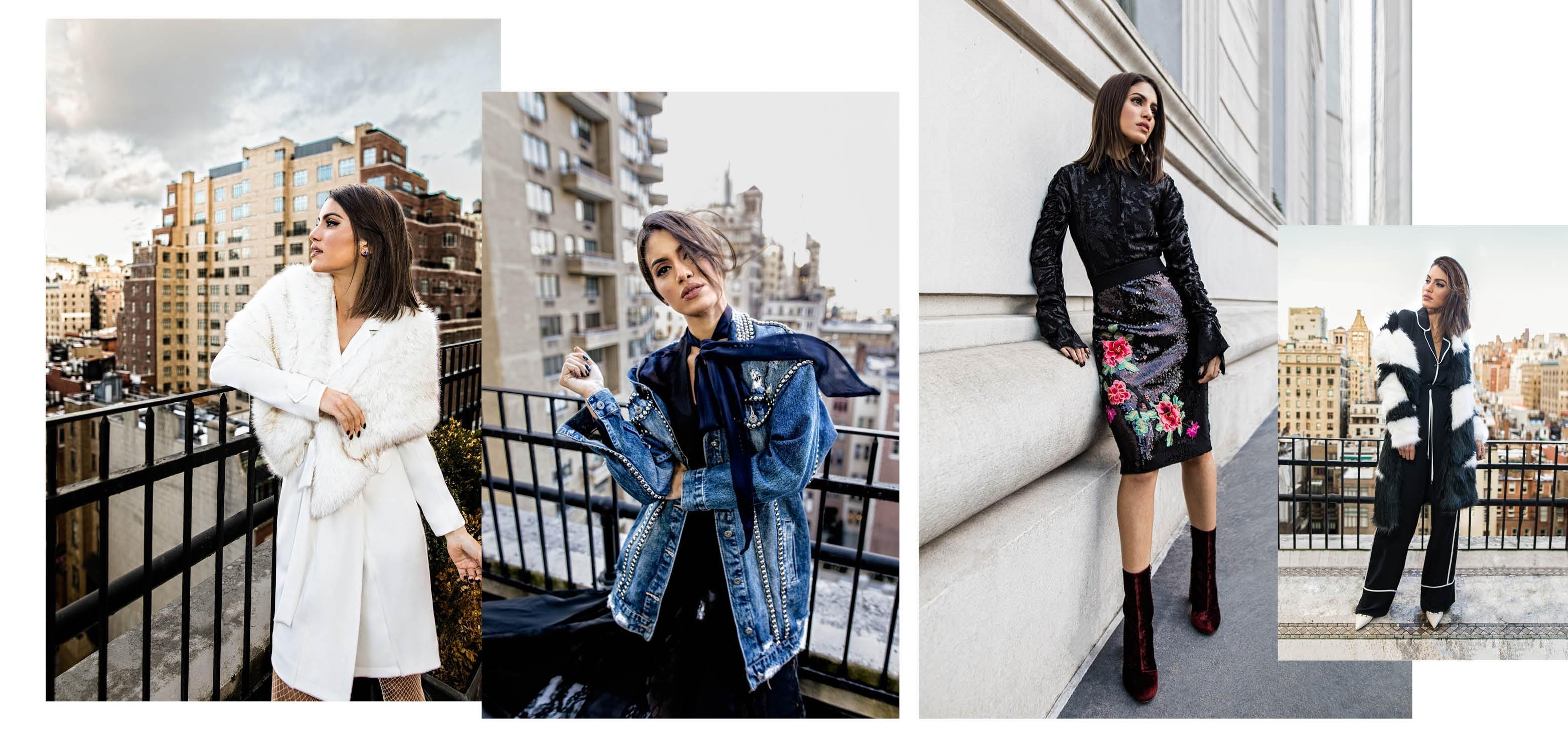 Mais fotos do shooting em Nova York com Camila Coelho. (Foto: Divulgação)