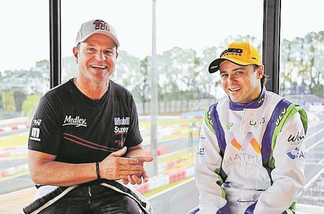 Rubinho Barrichello e Felipe Massa (Foto: Divulgação)