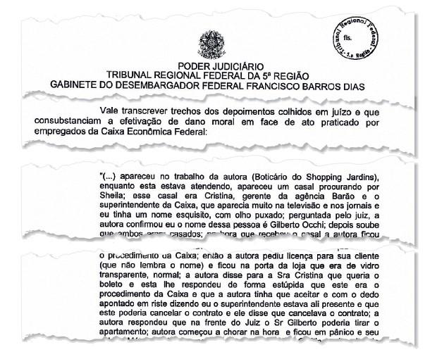 Denúncia contra Gilberto Occhi (Foto: reprodução)
