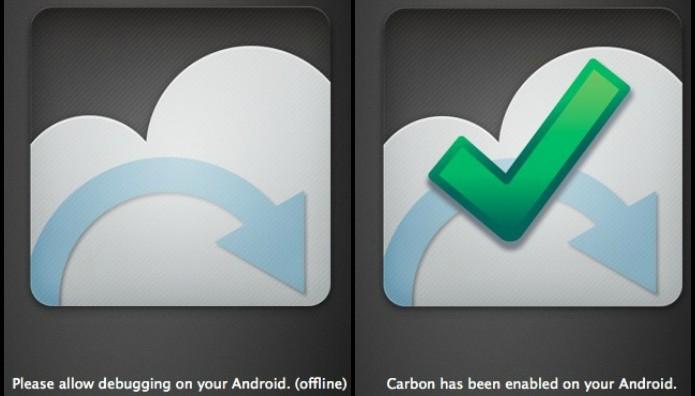 Imagem mostra processo para habilitar depuração USB (Foto: Reprodução/ Lucas Torres)