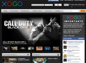 Site Xogo encerra atividades (Foto: Reprodução)