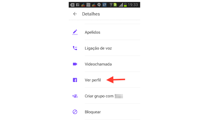 Acessando o perfil no Facebook de um contato do Facebook Messenger pelo Android (Foto: Reprodução/Marvin Costa)