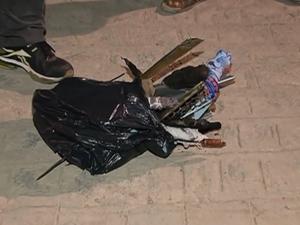 Objetos utilizados para matar o adolescente. (Foto: Reprodução/ TV Asa Branca)