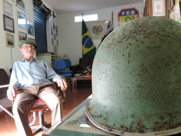Victório Nalesso foi só mais um dos 'caipiras' que lutaram na 2ª Guerra (Foto: Caio Gomes Silveira/ G1)