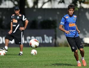 Muricy Neymar em treino do Santos (Foto: divulgação / Santos FC)
