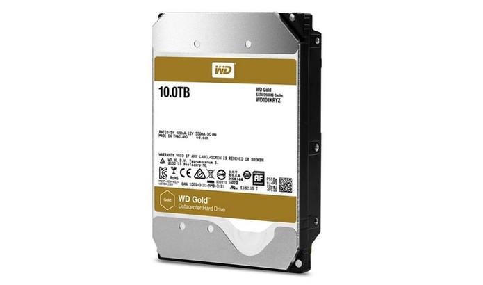 WD Gold, HD com 10 TB de armazenamento (Foto: Divulgação/Western Digital) (Foto: WD Gold, HD com 10 TB de armazenamento (Foto: Divulgação/Western Digital))