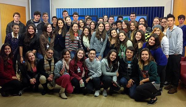 Programa de visitas, alunos jornalismo (Foto: Divulgação/ RPC TV)