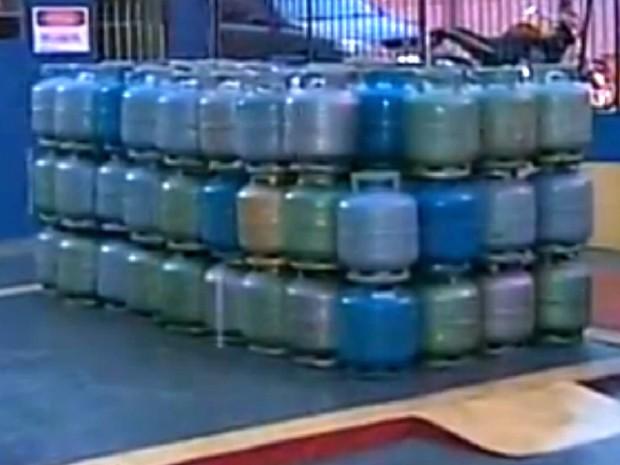Falta de gás de cozinha faz preço de botijão aumentar em Sorocaba (Foto: Reprodução/TV Tem)
