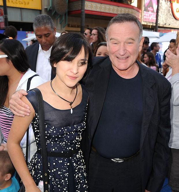 Robin posa com a filha, Zelda (Foto: Getty Images)