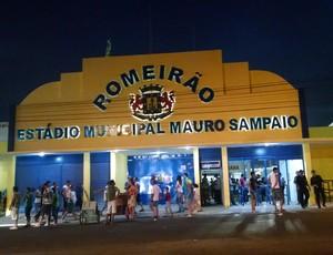 Romeirão, estádio, Juazeiro do Norte, entrada (Foto: Juscelino Filho)