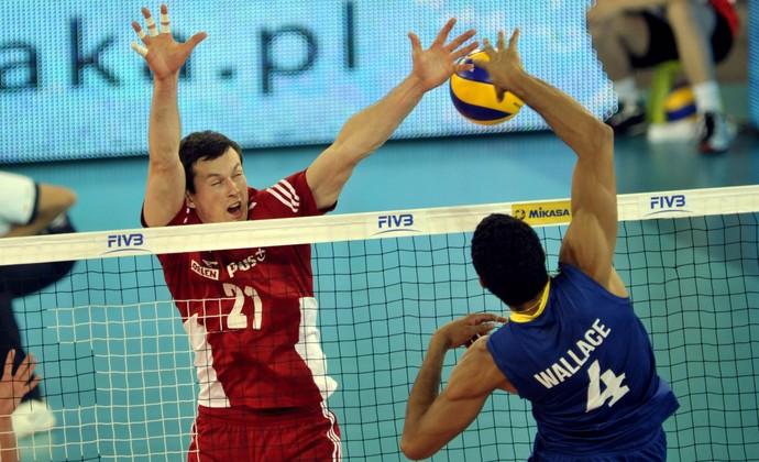 Polônia x Brasil Liga Mundial Wallace (Foto: Divulgação/FIBV)