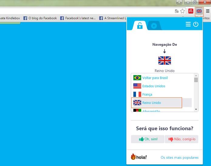 Acesse o Skype web e ative o Hola para o Reino Unido (Foto: Reprodução/Barbara Mannara)