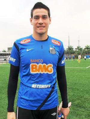 Gabriel Gasparotto Goleiro Santos (Foto: Lincoln Chaves / Globoesporte.com)