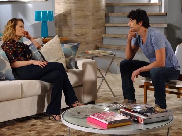 'Não vou, não vou, não vou': Nando teima com Juliana (Foto: Guerra dos Sexos / TV Globo)