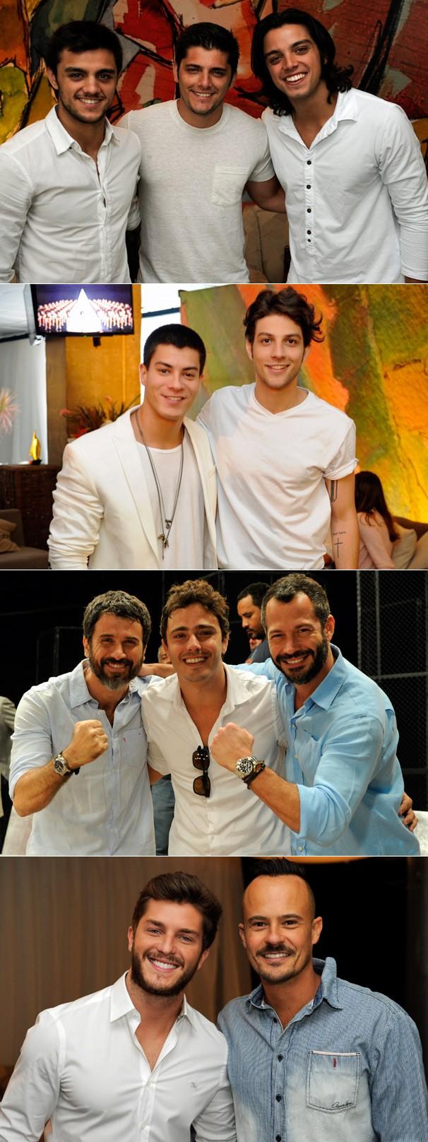 Os rapazes de nossas novelas e séries em clima de festa (Foto: Renato Rocha Miranda/Globo)