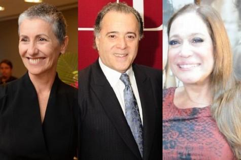 Cássio Kis, Tony Ramos e Susana Vieira (Foto: TV Globo)