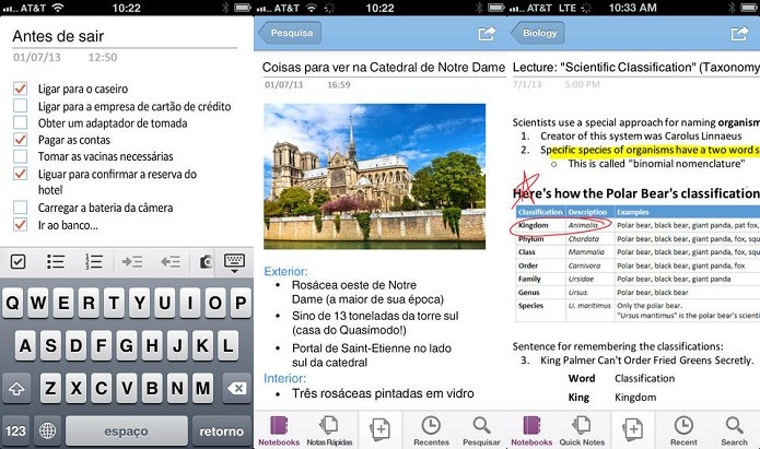 Capturar o que é importante, anotando suas ideias no OneNote (Foto: Divulgação/AppStore)