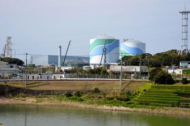 Foto de 30 de março mostra planta nuclear em Satsumasendai (Foto: Jiji Press/AFP)