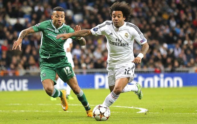 Marcelo, Real Madrid X Ludogorets (Foto: Agência AP )