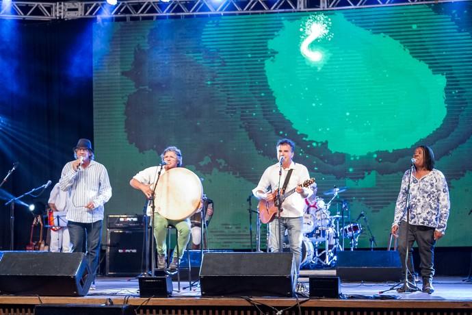Antonio Villeroy, Bebeto Alves, Gelson Oliveira, Nelson Coelho, Especial de Natal, Galpão Crioulo (Foto: Maicon Hinrichsen/Divulgação RBS TV)