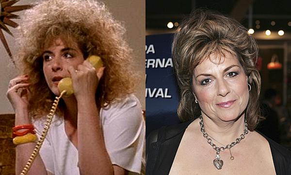 Caroline Aaron em 1990 e atualmente (Foto: Divulgao)