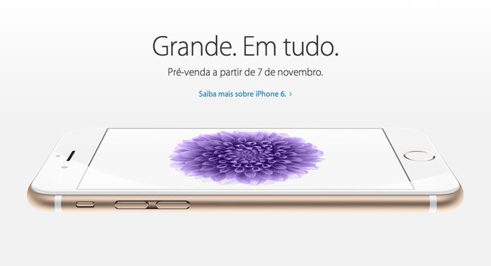 Site da Apple confirma pré-venda do iPhone 6 e iPhone 6 plus no Brasil (Foto: Reprodução/Apple)