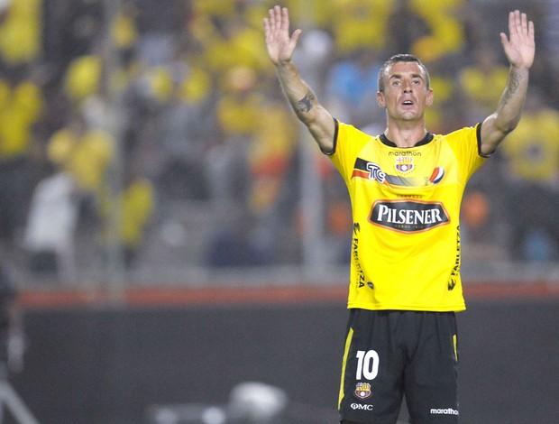 Damian Diaz, Barcelona x Cobreloa (Foto: Agência Reuters)