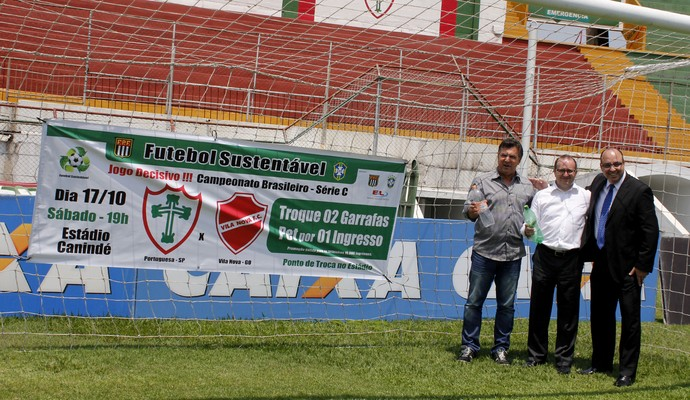 Portuguesa Estevam Soares Edivaldo Ferraz Jorge Gonçalves (Foto: Portuguesa/Divulgação)