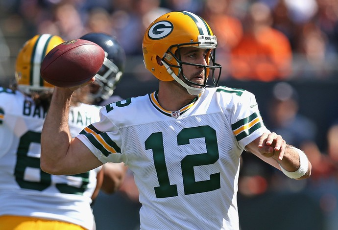 Aaron Rodgers Green Bay x Bears nfl (Foto: Getty Images)