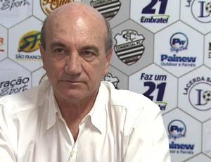 Vilson Tadei, técnico do Comercial (Foto: César Tadeu / EPTV)