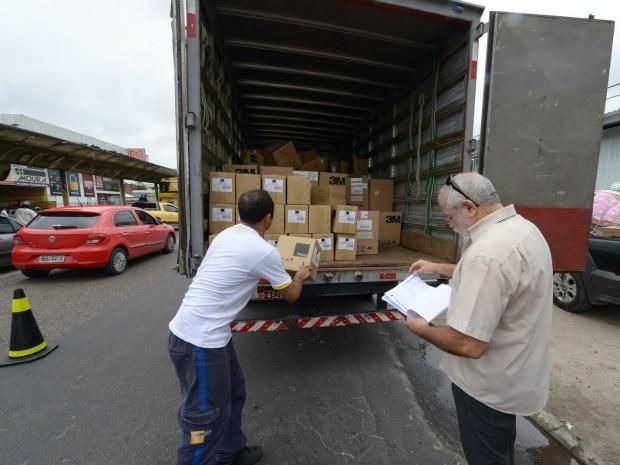 Só nesta sexta-feira (15), seis caminhões foram apreendidos na Avenida Grande Circular, Zona Leste.  (Foto: Alex Pazuello / Agecom)