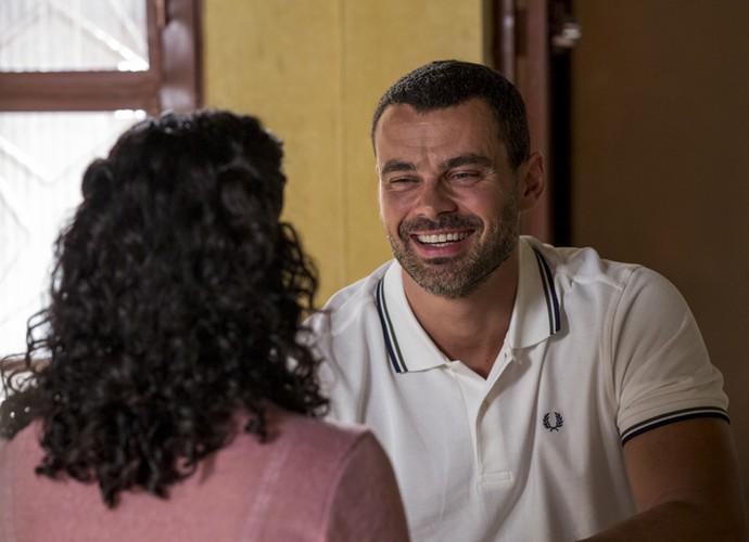 César diz que pretende fazer Domingas muito feliz (Foto: Ellen Soares/ Gshow)