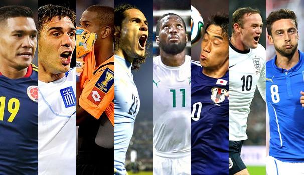 As seleções que se enfrentam no sábado, dia 14 de Junho pela Copa do Mundo (Foto: Divulgação/Reprodução)