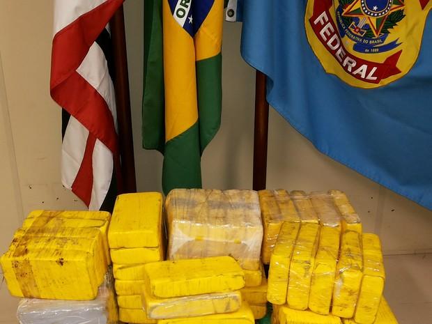 Droga foi encaminhada para sede da Polícia Federal (Foto: Divulgação/PF)