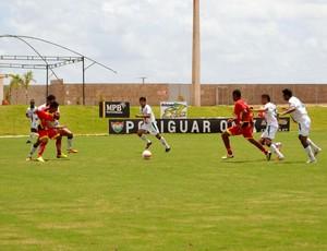 Globo FC x Baraúnas, no Estádio Barretão (Foto: Jocaff Souza)