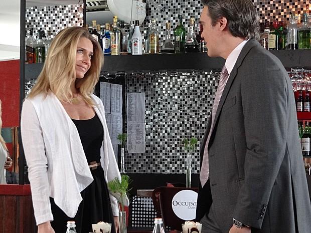 Letícia e Dalton gravaram em uma café na Zona Oeste (Foto: Salve Jorge/TV Globo)