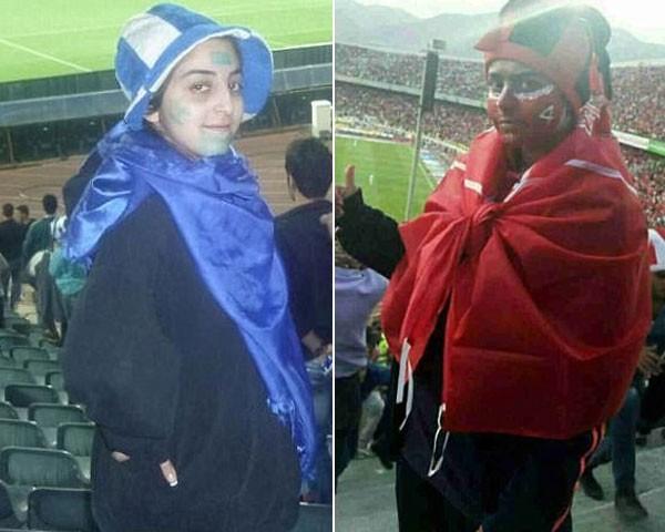 Iranianas são presas por assistir partida de futebol em estádio (Foto: Reprodução Twitter)