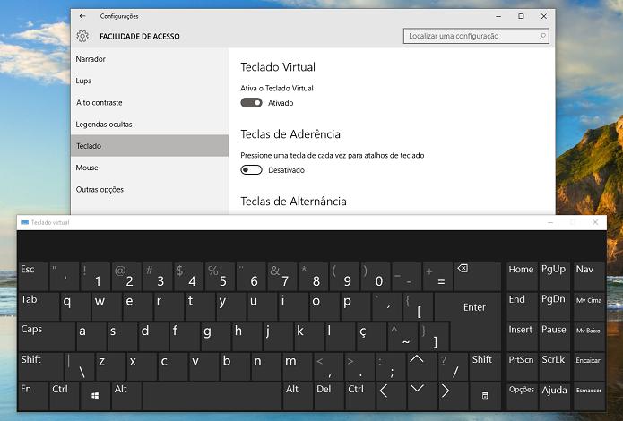 Teclado virtual pode ser usado em diversas ocasiões (Foto: Reprodução/Thiago Barros)